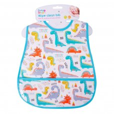 FS697: Wipe Clean PEVA Bib with Pocket