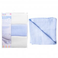 FS749: 3 Pack Blue Muslin Square