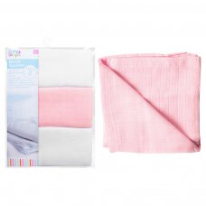 FS750: 3 Pack Pink Muslin Square