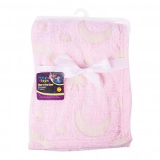 FS757: Pink Glow in the Dark Baby Blanket
