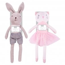 FS848: 40 cm Knitted Bunny & Cat Toy