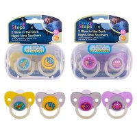 FS853: 2 Pack Glow in the Dark Soother with Steriliser Box