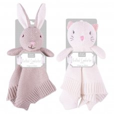 FS855: Knitted Bunny & Cat Comforter