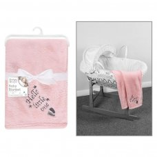 FS950: Supersoft Pink Little One Fleece Baby Blanket