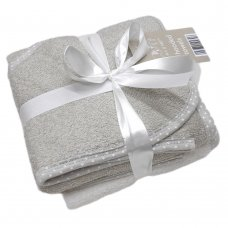BIT194313: 2 Pack Baby Hooded Towels- Grey