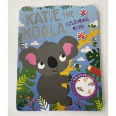 758186: Katie The Koala 72 Page Colouring & Stickers Book