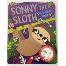 758162: Sonny The Sloth 72 Page Colouring & Stickers Book