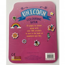 758193: Unicorn 72 Page Colouring & Stickers Book