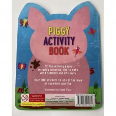 411696: Piggy 72 Page Activity Book