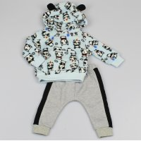 M2471:  Baby Panda Hooded Cuddle Fleece Top & Jog Pant Set (3-12 Months)
