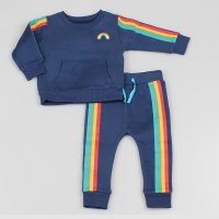 M3475:  Baby Boys Rainbow Top & Jog Pant Set (1-2 Years)