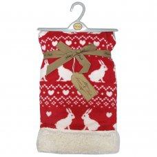 K11142: Baby Bunny Fairisle Fleece Blanket