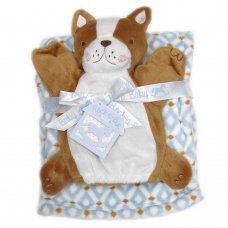 K11918: Baby Boys Fox Puppet  & Blanket Set