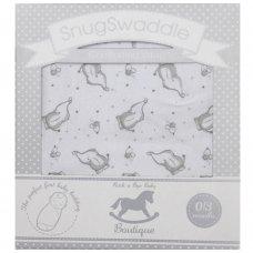 K12391: Baby Unisex Elephant Snug Swaddle Comforting Wrap (0-3 Months)