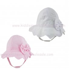 0291: Baby Girls Plain Bow Hat (0-6 Months)