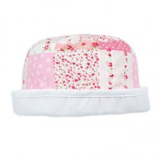 0085: Baby Girls Patchwork Sun Hat (0-6 Months)