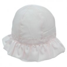 0114: Baby Girls Cloche Hat With Chin Strap (0-6 Months)