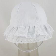 0292: Baby Girls Double Layer Frill Brim Cloche Hat (0-6 Months)