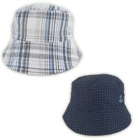 02461: Boys Anchor Reversible Bucket Hat (1-4 Years)