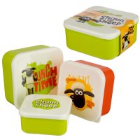 LBOX31: Set of 3 Lunch Boxes - Shaun The Sheep
