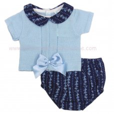 MC422: Baby 2 Piece Floral Outfit With Bow (0-9 Months)