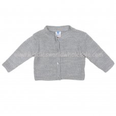 MC632G: Baby Grey Knitted Cardigan (0-12 Months)
