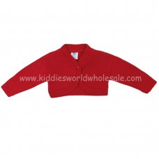 MC627B: Baby Red Bolero Cardigan (9-24 Months)