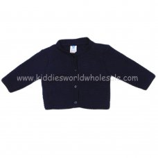 MC632N: Baby Navy Knitted Cardigan (0-12 Months)