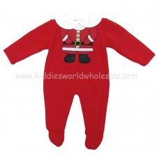 MC638R: Baby Red Christmas Knitted All In One (0-12 Months)