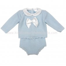 MC605S: Baby Sky Knitted 2 Piece Outfit (0-12 Months)