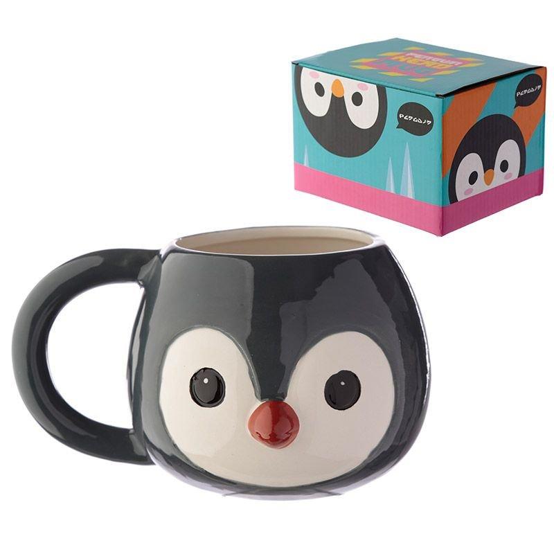 MUG286: Cutiemals Ceramic Penguin Head Shaped Mug