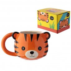 MUG288: Cutiemals Ceramic Tiger Head Shaped Mug