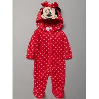 S19485: Baby Minnie Mouse Fleece Onesie/All In one (0-9 Months)