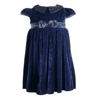 N15784: Baby Girls Velvet Occasion Dress (3-24 Months)