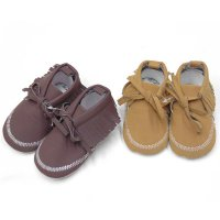 N15789: Baby Girls Moccasin Boots (0-12 Months)