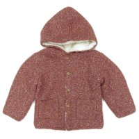 NM44: Baby Girls Chunky Knitted Fur Lined Cardigan (NB-3 Years)