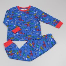 GF4156: Boys All Over Print Dinosaur Pyjama (2-6 Years)