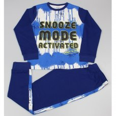"GF6162: Older Boys ""Snooze Mode Activated"" Pyjama (7-12 Years)"