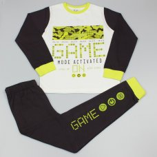 "GF6163: Older Boys ""Game Mode Activated"" Pyjama (7-12 Years)"