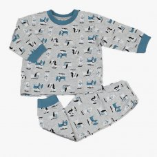 M3361: Baby Boys All Over Puppies Print Pyjama (12-24 Months)