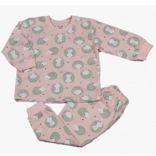 M3365: Baby Girls All Over Hedgehogs Print Pyjama (12-24 Months)