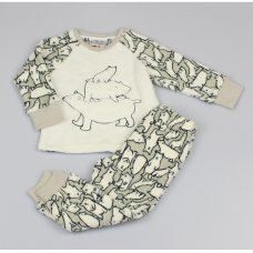 M4468: Boys Polar Bear All Over Print Cuddle Fleece Pyjama (2-6 Years)