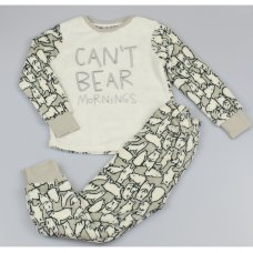 M6469: Older Boys Polar Bear All Over Print Cuddle Fleece Pyjama (7-12 Years)