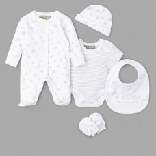 Q17014: Baby Unisex Rocking Horse 6 Piece Net Bag Gift Set (NB-6 Months)