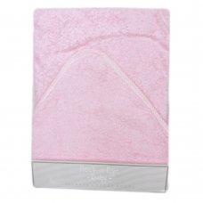 Q17158: Baby Plain Pink Hooded Towel/Robe