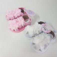 Q17490: Baby Girls Sandals  (0-12 Months)