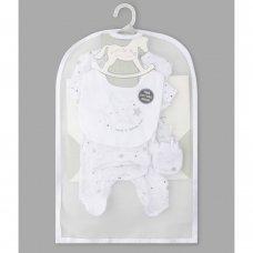 Q17737: Baby Unisex Stars 6 Piece Net Bag Gift Set (NB-6 Months)