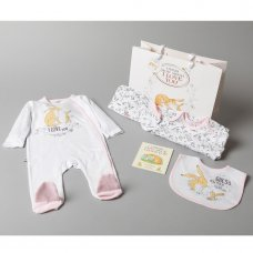 R17982: Baby Girls Guess How Much I Love You 7 Piece Mesh Bag Gift Set With Book (NB-6 Months)