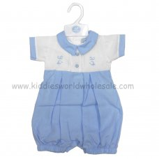 R17987: Baby Boys Romper With Embroidery (0-9 Months)