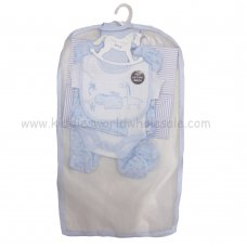 R17994: Baby Boys Animals 6 Piece Net Bag Gift Set (NB-6 Months)
